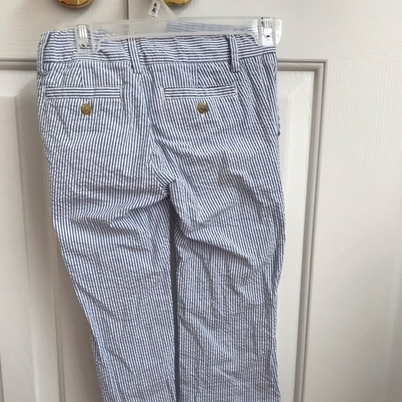 Blue Stripe $42 NWT JANIE and JACK Boys/' 100/% Cotton Seersucker Pants Size 4